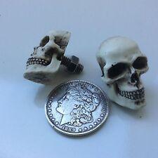 American Made Skull License Plate Bolt skeleton Hot Street Rat Rod Punk     29PB