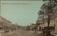 Perry NY Main St. Looking North c1910 Postcard