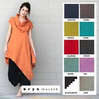 BRYN WALKER Light Linen  NOA TUNIC  Long Cowl Angle Hem XS S M L XL SPRING 2018