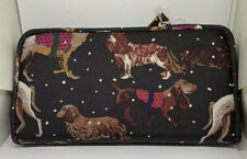 Cath Kidston Large Zip Wallet Snowy Sketchbook Dogs Black. New with Tag