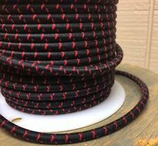 Schwarz/Rot Kreuzstich Tracer Tuch Bedeckt 3-Wire Rund Kordel, Farbe Stoff, USA