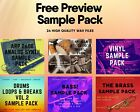 FREE Preview Sample Pack / DRUMS / VINYL / ARP 2600 / BASS / BRASS / ARABIC /