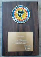 1986 Sun Belt Conference Basketball Champions Plaque; COLLECTOR'S ALERT!