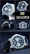 SPORTLICHES CHRONOGRAPH -CAT UNISEX UHR DESIGNER -FORM 10 BAR WASSER DICHT   NEU