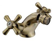 Rubinetto Miscelatore bidet ottone finitura Bronzo manopole a Croce - F19