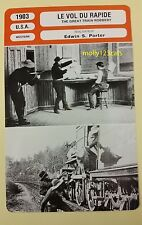 US Silent Western The Great Train Robbery Edwin S Porter French Film Trade Card