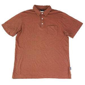 Patagonia Men's Common Threads Organic Cotton Striped Polo Shirt Size M