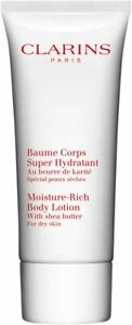Clarins Moisture Rich Body Lotion with Shea Butter Dry Skin 100ml