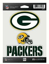 Green Bay Packers NFL Triple Spirit Stickers / Decals  3 Pack *Free Shipping