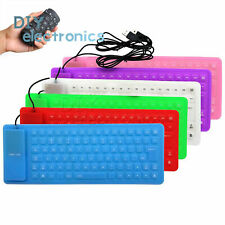 85Key Keyboard Silicone Waterproof Soft Flexible Foldable for Laptop PC US