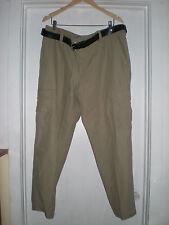 Men's Northwest Territory Cargo Pants 38X30 Khaki Tan w/ Free Belt