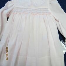 Sarah louise 12mo. dress pink,long sleeves. smocking, new w/tags