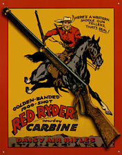 Daisy Red Ryder Carbine Tin Sign - 12.5x16