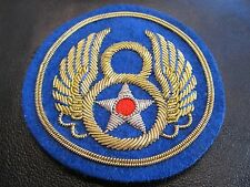 Vintage WWII 8th Army Air Force Jacket Patch, Real Gold & Silver Bullion Thread