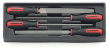 Gearwrench 4pc Metal File Set with Soft Grip Handles and Storage tray #82820