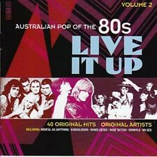AUSTRALIAN POP OF THE 80s VOLUME 2 LIVE IT UP VARIOUS ARTISTS 2 CD NEW