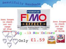 Fimo Effet 56g Argile Polymère 13 Neuf Couleurs Modelage Bijoux 5.5cm x 5.5cm