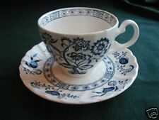 JOHNSON BROTHERS BLUE NORDIC CUP AND SAUCER