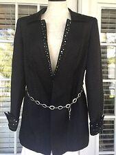 DVC Exclusive Woman's BLACK Blazer  Elegant Dressy Jacket Sz 6 ~ H1