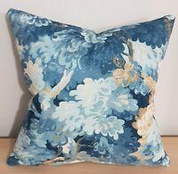 Omega Prints English Oak Cornflower & Omega Velvet Cushion Cover 40x40 cm
