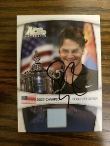 Roger Federer Signed Ace Authentic Card