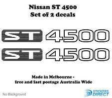 Nissan GU Patrol ST4500 Sticker Set of 2 Outdoor Grade Premium Decals 370mm4WD