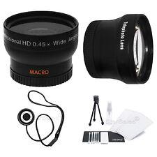 40.5mm 3 Lens Set Telephoto+Wide Angle+Macro+BONUS Olympus PEN E-P1 E-P2 PL1 PL2