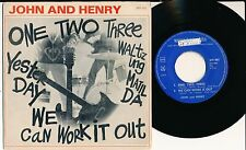 """JOHN AND HENRY 45 TOURS EP 7"""" HOLLANDE WE CAN WORK IT OUT (DES BEATLES)"""