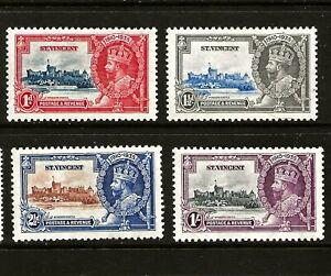 ST VINCENT (Z-928) 1935 SILVER JUBILEE SET OF 4 FRESH MM / MH SEE SCAN