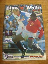 23/10/1994 Blackburn Rovers v Manchester United  . Footy Progs/Bobfrankandelvis,