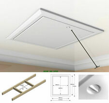 Timloc 1169 White Insulated Drop Down Hinged Loft Access Hatch With Opening Pole