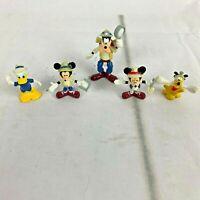 Disney Mickey Mouse Goofy Pluto Archaeologist Safari Tiny Mini Figures Lot of 5