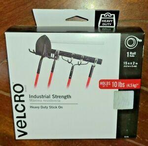Velcro Industrial Strength -Heavy Duty Stick On- (WHITE - 15ft x 2in Roll)