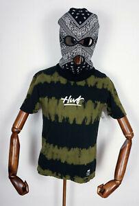 Huf Worldwide Skateboard T-Shirt Tee Shirt High Tide Wash Black in XS