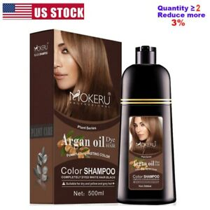 500ml Permanent Hair Color Shampoo Natural Coconut Coloring Dye for Men Women