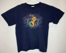 Vtg 2001 Cartoon Network Mens Small Scooby Doo Skateboard Dragon Shirt Navy Blue