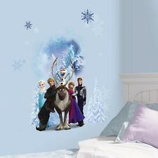 DISNEY FROZEN WINTER BURST Wall Decals Anna Elsa Olaf Sven Stickers Room Decor