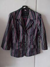 Damen Blusen Jacke  Gr 38 schwarz mit bunten Streifen