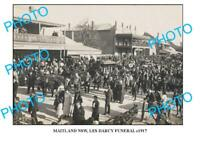 OLD 6 x 4 PHOTO OF MAITLAND NSW LES DARCY FUNERAL c1917 1