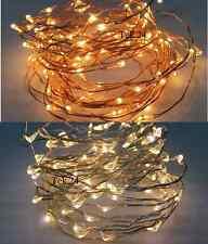 LED Drahtlichterkette Lichterkette mit Timer Innen & Aussen  20/40/100 Batterie