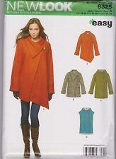 From UK Sewing  Pattern Coat, Jacket, Gilet Sizes 6 - 24 #6325