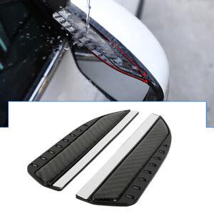 2 x Real Carbon Fiber Rear View Side Mirror Visor Shade Rain Shield  Water Guard