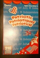 NEW Darice Patriotic 316 Stickers Memorial Day 4th of July Stars Red White Blue