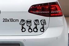 Zylinder Kolben 20x10cm Auto Aufkleber Kopf Tuning V4 V6 JDM OEM Sticker A006