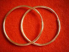 große Creolen  6 cm Gold 333 poliert, Rohrcreolen Ohrringe 60 x 2,7 mm Gold 333