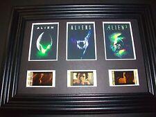 ALIEN Framed Trio Movie Film Cell Memorabilia - Compliments poster dvd book
