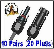 20 x MC4 connectors for PV Solar panel 10 pairs (male & female) 10 year warranty