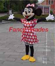 Brand New Minnie Mouse Mascot Costume Adult Size Fancy Dress!
