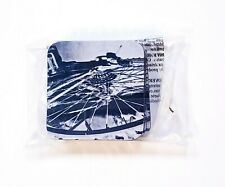 Set of 4 Bicycle Spokes Print Soft Recycled Rubber Absorbent Coasters