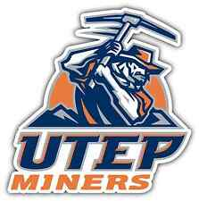 "UTEP Miners University College NCAA Car Bumper Vinyl Sticker Decal 4""X5"""